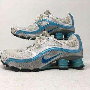 Nike Womens Shox Turbo 9 Running Shoes White 36642
